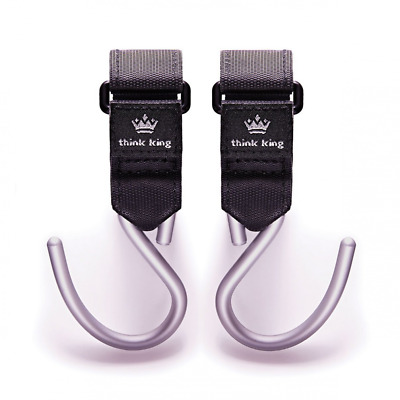 Think King Mighty Buggy Hook for Stroller, Wheelchair, Rollator, Walker, 2 Pack