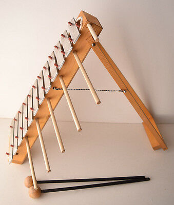 Vintage Collectible Xylophones Musical Instrument HEESH German Wood & Metal Rare
