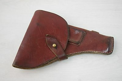 Vintage Collectible Retro Communist Police Holster Thick Genuine Leather Model