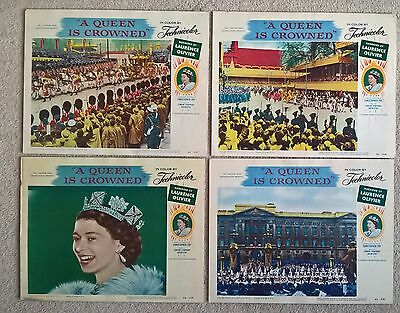 A Queen Is Crowned - The Coronation Of Queen  Elizabeth 11- 1953 .original Cards