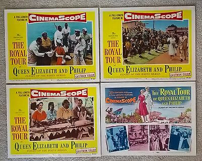The Royal Tour Of Queen Elizabeth And Philip- 1954: -Us Lobby Cards X 8 Original