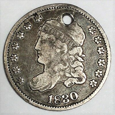 1830 Capped Bust Half Dime Beautiful High Grade Coin Rare Date