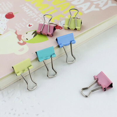 Colorful Metal Binder Clips Paper Clip 15mm Office Learning Supplies