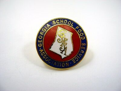 Vintage Collectible Pin: GSFA Georgia School Food Service Association