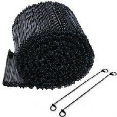"6"" Black Annealed Double Loop Steel Wire Ties - 5000 pcs 16 ga."