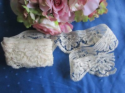 """FABULOUS LENGTH OF ANTIQUE HAND MADE BATENBURG LACE~100"""" x 2""""~PERFECT"""