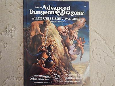 1986 Official Advanced Dungeons & Dragons Wilderness Survival Guide (First Ed)