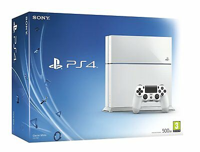 ||BUNDLE|| Sony PlayStation 4 PS4 500GB Glacier White Console (CUH-1216A) UK