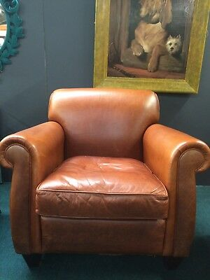 Leather Club Chair 1920 from Liberty London