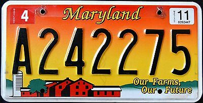 MARYLAND ' OUR FARMS - OUR FUTURE - BARN ' MD Graphic License Plate