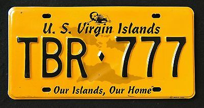 """US VIRGIN ISLANDS """" ST THOMAS """" OUR ISALND - TBR 777 """"USVI Graphic License Plate"""