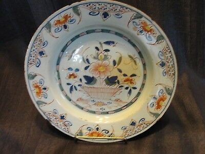 C. 1760 English Delft Plate - Floral Pattern