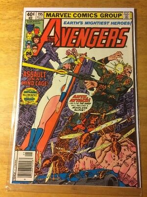 The Avengers #195 (May 1980, Marvel) First Cameo Appearance Of Taskmaster NM