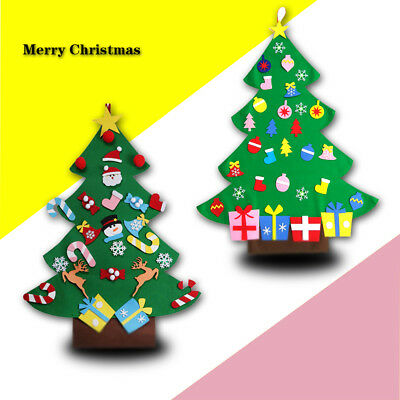 Felt Christmas Tree Set with Ornaments Xmas Gift Door Wall Hanging Decoration