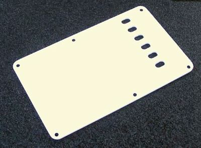 NEW Strat Back Plate PARCHMENT Vintage 1 Ply for USA Fender Stratocaster Guitar