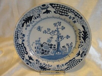 Early 18th C.  English Delft Plate - Chinoiserie Design
