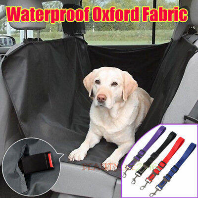 Dog Car Back Seat Cover Pet Mat Blanket Hammock Cushion Protector Seat belt AU
