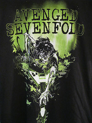 Men's Avenged Sevenfold Black Rock Metal Band Graphic T-Shirt. Size Large (L)