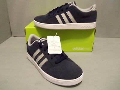 Adidas Boys' Baseline K Casual Shoes Suede uppers size 4.5 youth Navy/gray NIB *