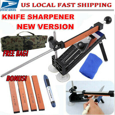 Professional Kitchen Sharpening Knife Sharpener System Fix Angle with 4 Stones