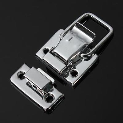 Silver Fastener Toggle Latch Catch Chest Case Suitcase Boxes Chests Trunk Lock ^
