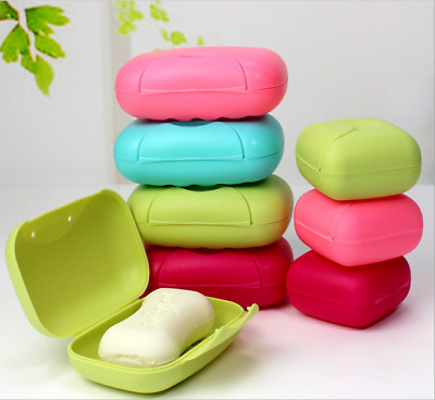 Home Bathroom Shower Travel Hiking Soap Box Dish Plate Holder Case Container Set