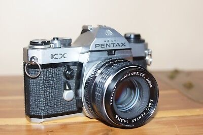 Asahi Pentax KX With SMC Pentax 55mm f/1:8 Lens.Clean And Working.
