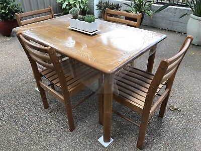 Timber 4 Seater Dining Table with Chairs