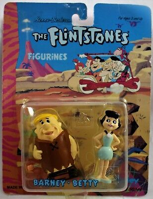 "Flintstones Barney Rubble 3"" Hannah Barberra 1993 Betty Wind up Toy Figure 50344"