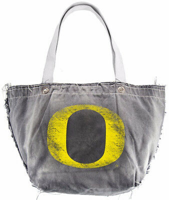 NEW OREGON DUCKS Denim Vintage Style TOTE Hand Bag By Little Earth NCAA NWT