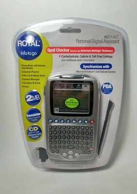 Royal ezVue2 Personal Digital Assistant 2MB - New! Sealed!
