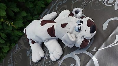 Vintage Grey Pound Puppy Plush 13 inches long Tail to Nose Collectible Stuffed A