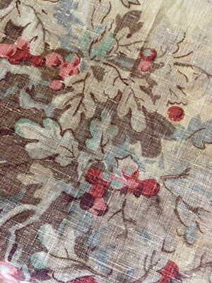 Rare Antique Liberty London Fabric Madder Dyed French Design 19th C