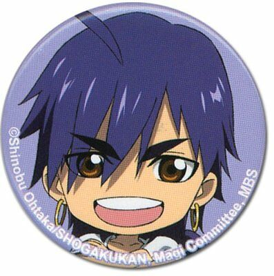 "*NEW* Magi The Labyrinth of Magic: Sinbad 1.25"" Button by GE Animation"
