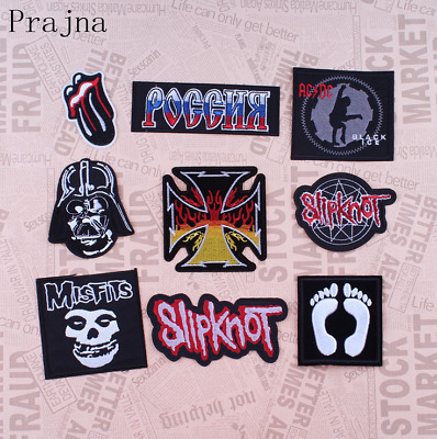 Gift Embroidered Sew Iron On Patch Applique Metal Rock Punk Indy Music Band