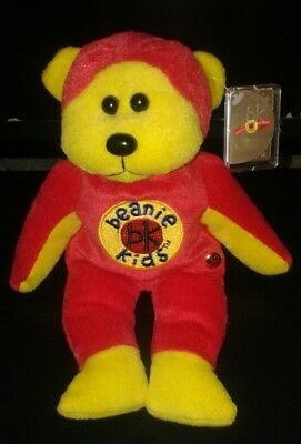 Beanie Kids, Beanie Master the bear, 10 year gold bk button, With tag, like new