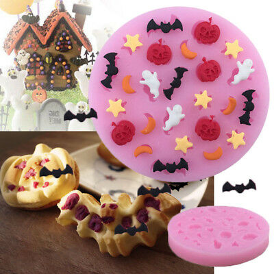 Halloween Silicone Cake Topper Icing Mould Baking Paste Chocolate Craft