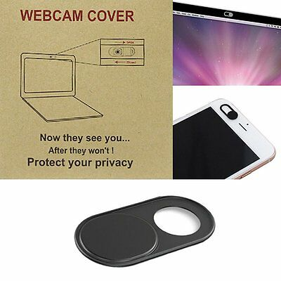 New 1Pc Black Webcam Cover For Protect Privacy Desktop Laptop Phone iPad Camera