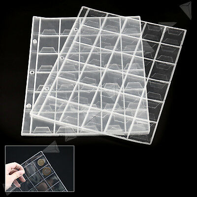 10 Sheet 30 Pockets Plastic Coin Holders Storage Collection Money Album Page