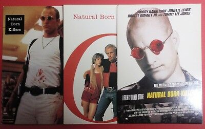 Postcard Lot of 3 : NATURAL BORN KILLERS : Oliver Stone