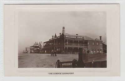 VINTAGE POSTCARD   THE COMMERCIAL HOTEL AT LEONGATHA VICTORIA RPPC   1900s