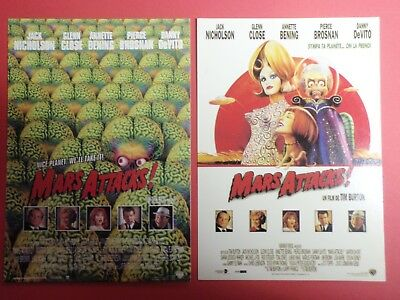 Postcard Lot of 2 : MARS ATTACKS : Tim Burton