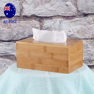 Large Home Room Car Hotel Tissue Box Wooden Box Paper Napkin Holder Case MN