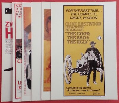 Postcard Set of 6 : The GOOD, The BAD & The UGLY : Sergio Leone