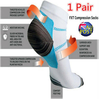 Men Women Compression Support Socks Foot Anti Fatigue Plantar Arch Support MN