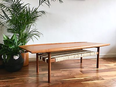 Mid Century Modern Danish Grete Jalk Coffee Table for Glosstrup Large