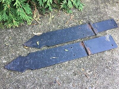 Pair Iron Hinges Antique Victorian Shelf Spandrel  Architectural Salvage