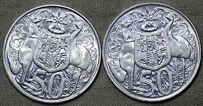 Pair of Uncirculated 1966 Silver 50c coins, Most definately NOT Scrap. Lot3