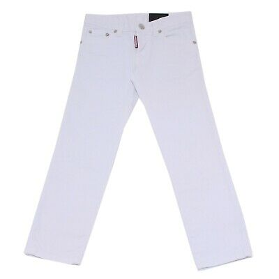 8016T jeans bimbo DSQUARED2 CLEMENT JEAN bianco denim trouser jean kid