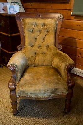 Antique Victorian Low Level  Nursing Chair